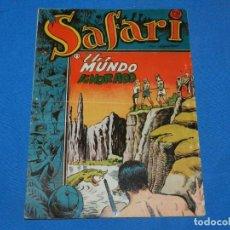 Tebeos: (M4) SAFARI N.19 UN MUNDO IGNORADO, EDT RICART, SEÑALES DE USO NORMALES. Lote 196778196