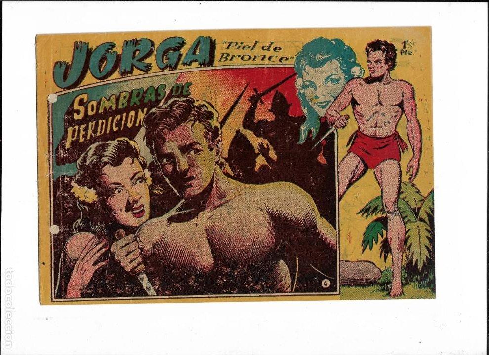 JORGA PIEL DE BRONCE AÑO 1954 Nº 6 ES ORIGINAL DE LA 1ª EDICCIÓN DIBUJANTE FERRANDO (Tebeos y Comics - Ricart - Jorga)
