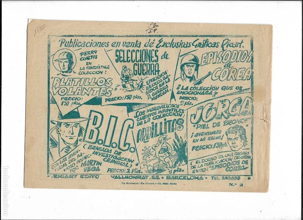 Tebeos: Jorga Piel de Bronce Año 1954 Nº 2 es Original de la 1ª Edicción Dibujante Ferrando - Foto 2 - 197408021