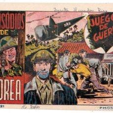 Tebeos: EPISODIOS DE COREA AÑO 1952 Nº 21 ES ORIGINAL DIBUJANTE GIRAL EDITORIAL RICART.. Lote 197803958