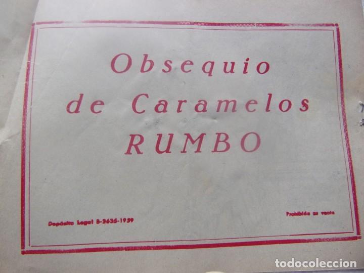 Tebeos: COLECCIÓN GOLONDRINA - EL ESTUCHE DE ORO -obsequio caramelos rumbo - Foto 2 - 198581938