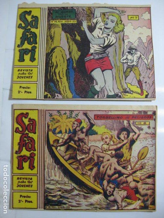 LOTE DE 2 EJEMPLARES SAFARI - Nº 2 Y 7 - RICART (Tebeos y Comics - Ricart - Safari)