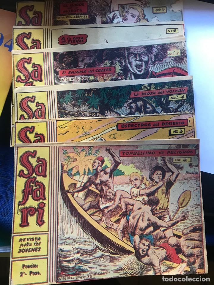 SAFARI 6 NÚMEROS: 2, 3, 4, 5, 6 Y 7 (Tebeos y Comics - Ricart - Safari)