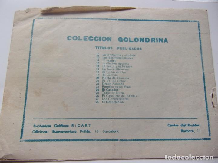 Tebeos: COLECCIÓN GOLONDRINA NÚM. 28- EL DESHEREDADO - Foto 2 - 199174450
