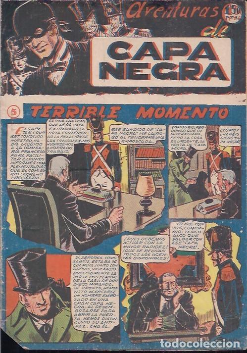 AVENTURAS DE CAPA NEGRA Nº 5 (Tebeos y Comics - Ricart - Otros)
