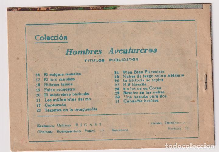 Tebeos: HOMBRES AVENTUREROS Nº 31 COBARDIA HEROICA EDITORIAL RICART NUEVO SIN LEER - Foto 2 - 199855881