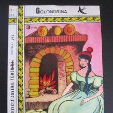Tebeos: GOLONDRINA (1968, RICART) -EXTRA CUENTOS- 222 · 30-III-1973 · TULIPANES. Lote 199991622