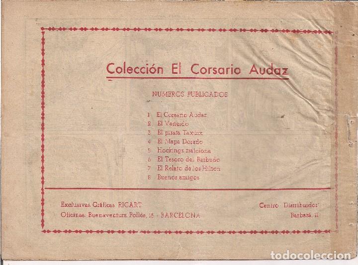 Tebeos: EL CORSARIO AUDAZ Nº 8. 1 PTA. BUENOS AMIGOS - Foto 2 - 205673561
