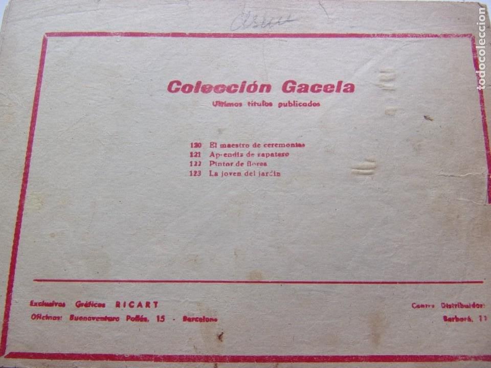 Tebeos: COLECCIÓN GACELA NÚM. 123 LA JOVEN DEL JARDÍN - Foto 2 - 205748637