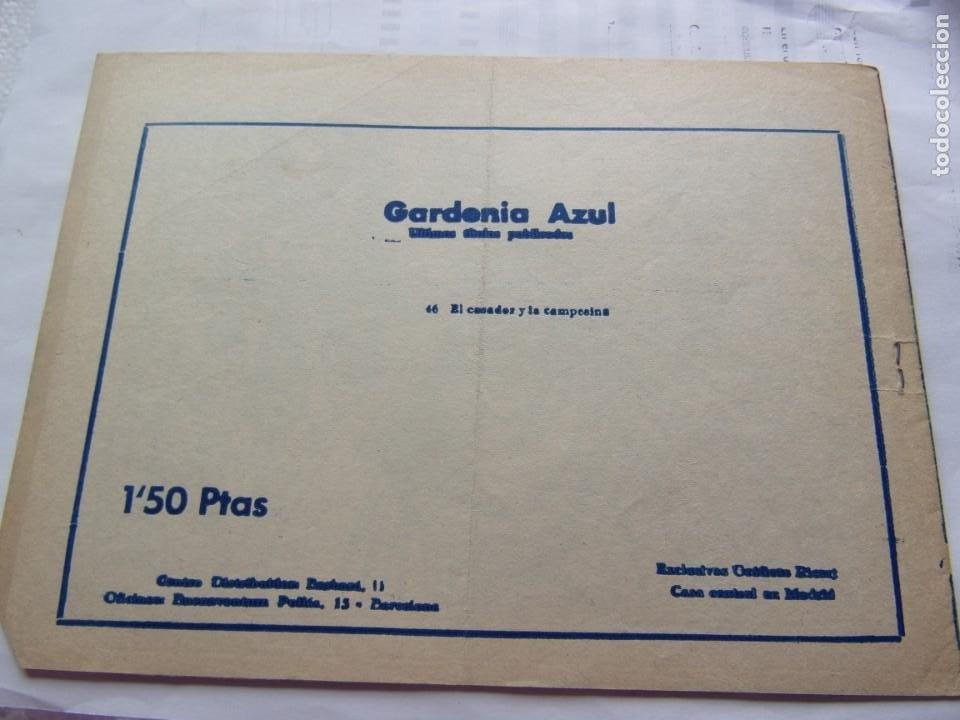 Tebeos: COLECCIÓN GARDENIA AZUL NÚM. 66 EL CAZADOR Y LA CAMPESINA - Foto 2 - 205749117