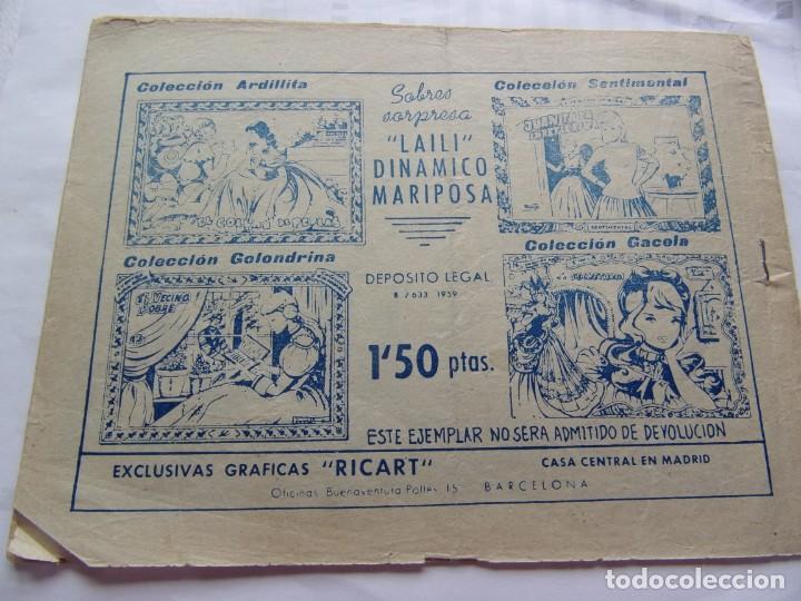 Tebeos: COLECCIÓN SENTIMENTAL -LA PRIMERA RIÑA- ANO 1959 - Foto 2 - 206501427