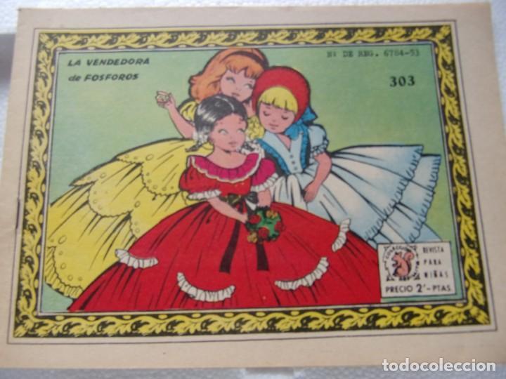 COLECCIÓN ARDILLITA NUM. 303- LA VENDEDORA DE FOSFOROS (Tebeos y Comics - Ricart - Otros)