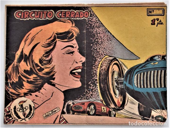AVENTURAS DEPORTIVAS DE 1 PTA. Nº 19 - CIRCUITO CERRADO - EDITORIAL RICART (Tebeos y Comics - Ricart - Aventuras Deportivas)