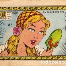 Tebeos: ARDILLITA-REVISTA PARA NIÑAS- Nº 312 -LA DUQUESITA FEA-1967-PRECIOSO-ESCASO-LEAN-3784. Lote 210381646