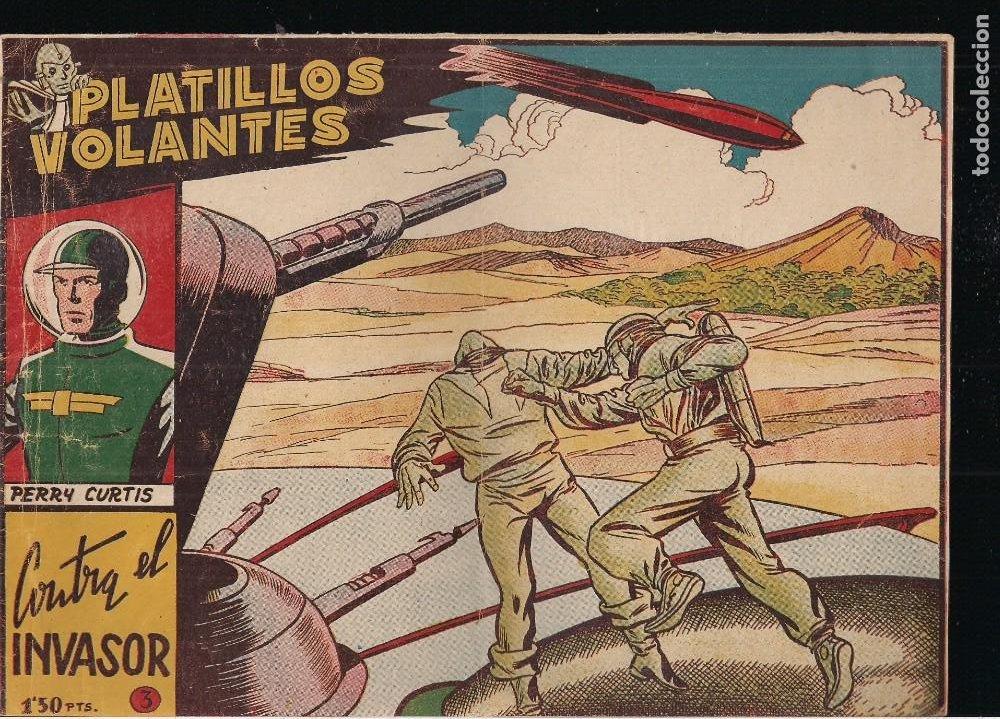 PLATILLOS VOLANTES 1ª SERIE Nº 3: CONTRA EL INVASOR (Tebeos y Comics - Ricart - Otros)