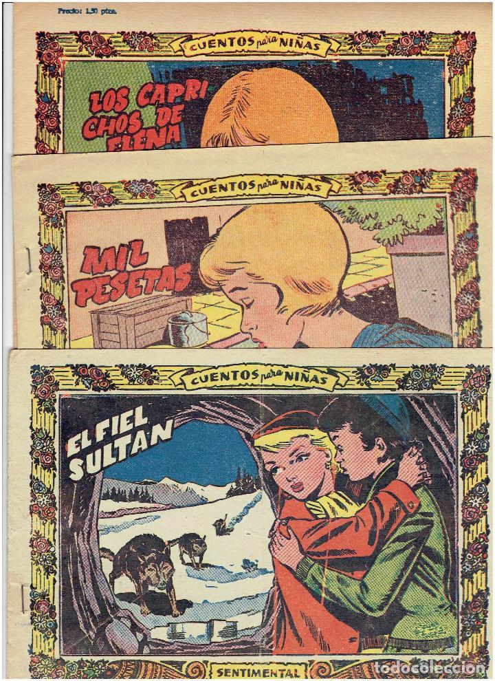* SENTIMENTAL * CUENTOS PARA NIÑAS Nº 2, 43, 338, * GRÁFICAS RICART 1955 * (Tebeos y Comics - Ricart - Sentimental)