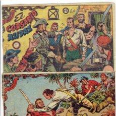 Tebeos: * EL CORSARIO AUDAZ DE 2 PTAS. - Nº 1 Y 3 * EDITORIAL RICART 1963 * ORIGINALES *. Lote 214134745