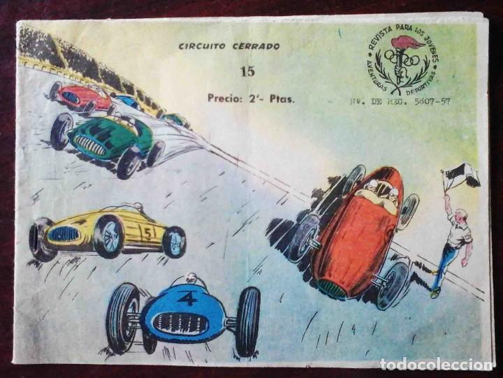 AVENTURAS DEPORTIVAS Nº 15 ORIGINAL - CIRCUITO CERRADO - 2 PTAS. (Tebeos y Comics - Ricart - Aventuras Deportivas)