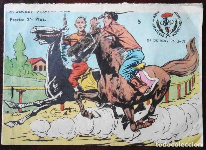 AVENTURAS DEPORTIVAS Nº 5 ORIGINAL - EL JOCKEY DESAPARECIDO - 2 PTAS. (Tebeos y Comics - Ricart - Aventuras Deportivas)