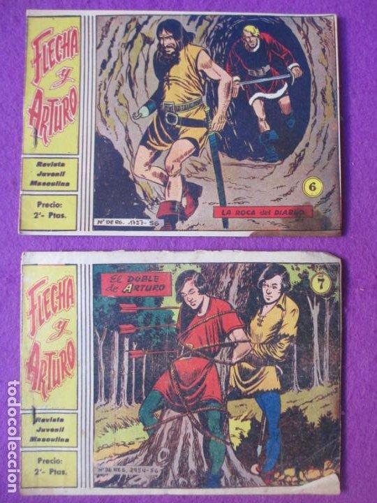 Tebeos: LOTE 13 TEBEOS FLECHA Y ARTURO ED. RICART Nº1-3-4-5-6-7-8-13-17-18-22-23-24 VER FOTOS ORIGINAL - Foto 6 - 220260713