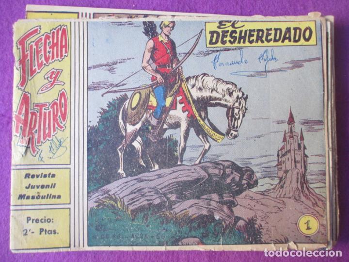 LOTE 13 TEBEOS FLECHA Y ARTURO ED. RICART Nº1-3-4-5-6-7-8-13-17-18-22-23-24 VER FOTOS ORIGINAL (Tebeos y Comics - Ricart - Flecha y Arturo)