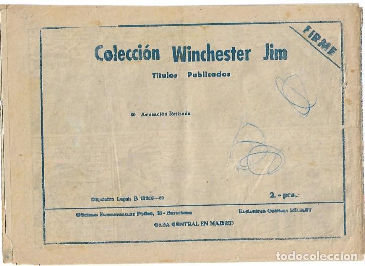 Tebeos: WINCHESTER JIM Nº 30 -ORIGINAL RIFLE DE 2 PTS CON INDICE DE NUMEROS- LEER TODO - Foto 2 - 39112279