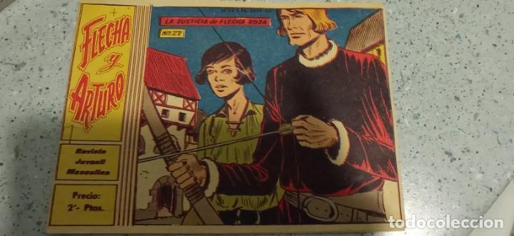 COMIC LA JUSTICIA DE FLECHA ROJA COLECCION FLECHA Y ARTURO Nº 27 REVISTA JUVENIL MASCULINA 1953 (Tebeos y Comics - Ricart - Flecha y Arturo)
