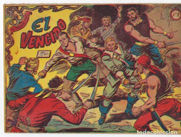 LOTE - EL CORSARIO AUDAZ ¡12 NÚMEROS! 1955 -1956 *** EDITORIAL RICART *** LEER DESCRIPCIÓN (Tebeos y Comics - Ricart - Otros)