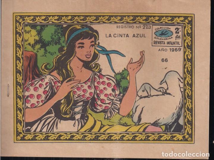 GOLONDRINA Nº 66: LA CINTA AZUL (Tebeos y Comics - Ricart - Golondrina)