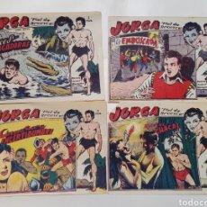 Tebeos: JORGA, PIEL DE BRONCE. REVISTA JUVENIL MASCULINA. 4 NUMEROS. RICART 1963. ORIGINAL DE EPOCA.. Lote 225746845