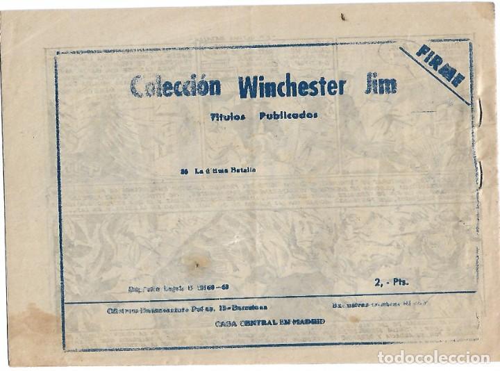 Tebeos: WINCHESTER JIM Nº 36,ULTIMO 2 PTS INDICE ATRAS-ORIGINAL MUY BUEN ESTADO-IMPORTANTE LEER Y VER FOTOS - Foto 2 - 227230877