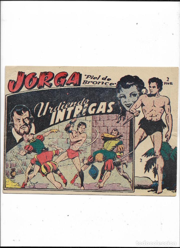 Tebeos: Jorga Piel de Bronce Año 1963 Colección Completa son 18 Tebeos Originales 2ª Epoca Dibujos Ferrando - Foto 3 - 231090220