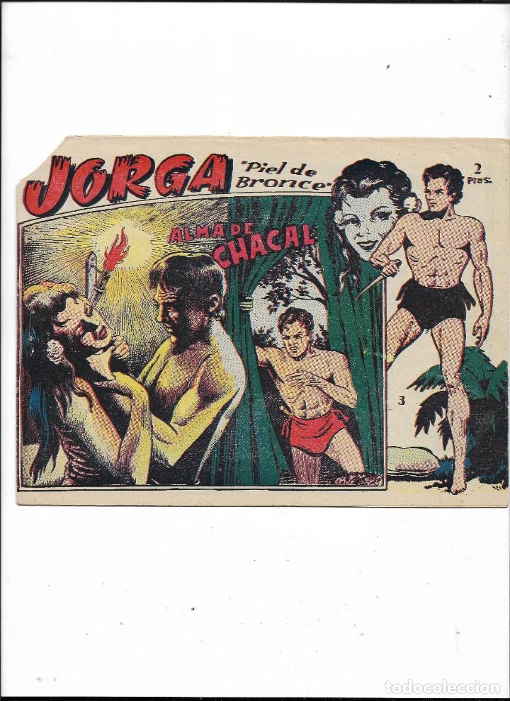 Tebeos: Jorga Piel de Bronce Año 1963 Colección Completa son 18 Tebeos Originales 2ª Epoca Dibujos Ferrando - Foto 4 - 231090220