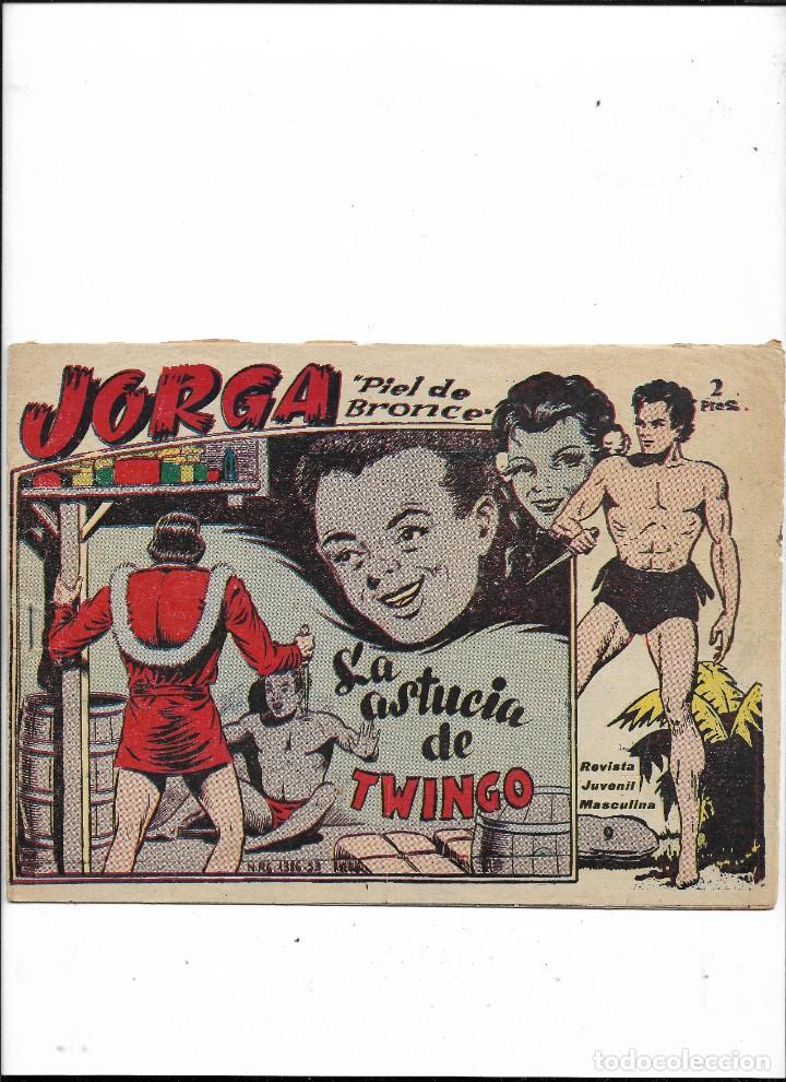 Tebeos: Jorga Piel de Bronce Año 1963 Colección Completa son 18 Tebeos Originales 2ª Epoca Dibujos Ferrando - Foto 10 - 231090220