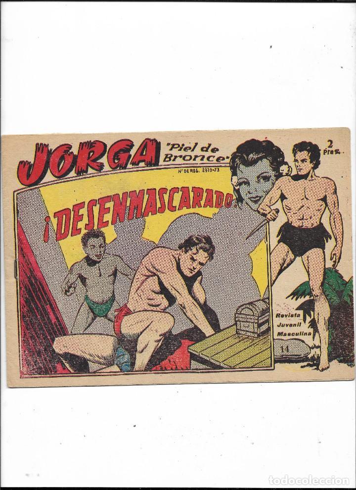 Tebeos: Jorga Piel de Bronce Año 1963 Colección Completa son 18 Tebeos Originales 2ª Epoca Dibujos Ferrando - Foto 15 - 231090220