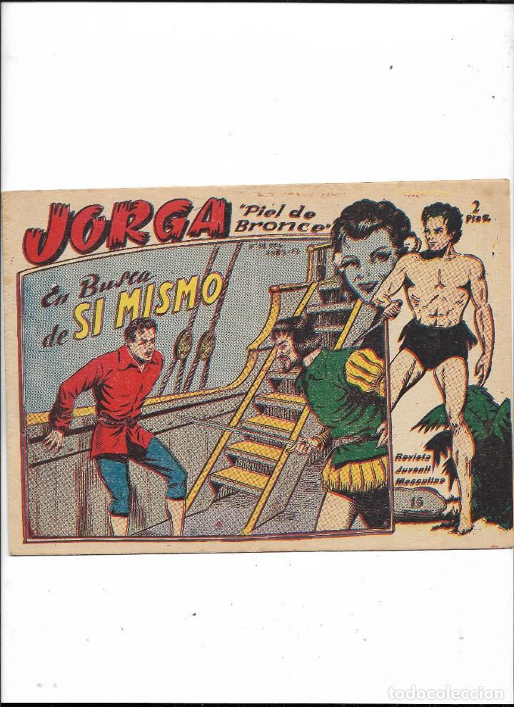 Tebeos: Jorga Piel de Bronce Año 1963 Colección Completa son 18 Tebeos Originales 2ª Epoca Dibujos Ferrando - Foto 16 - 231090220