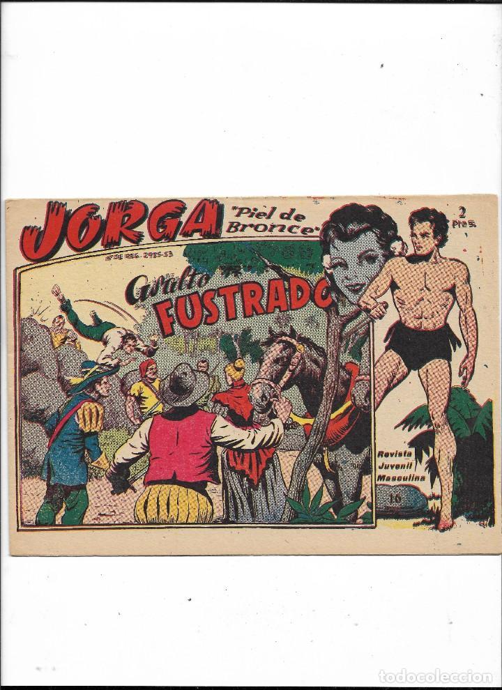 Tebeos: Jorga Piel de Bronce Año 1963 Colección Completa son 18 Tebeos Originales 2ª Epoca Dibujos Ferrando - Foto 17 - 231090220