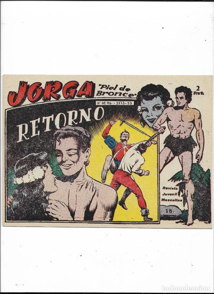 Tebeos: Jorga Piel de Bronce Año 1963 Colección Completa son 18 Tebeos Originales 2ª Epoca Dibujos Ferrando - Foto 19 - 231090220