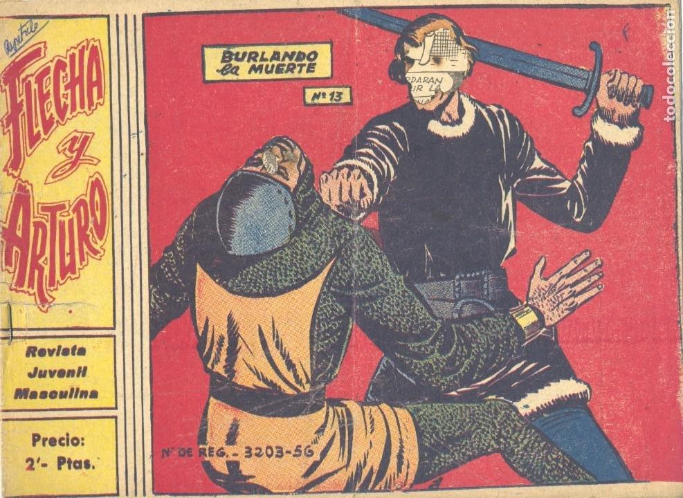 FLECHA Y ARTURO13. RICART, 1965 (ORIGINAL) (Tebeos y Comics - Ricart - Flecha y Arturo)