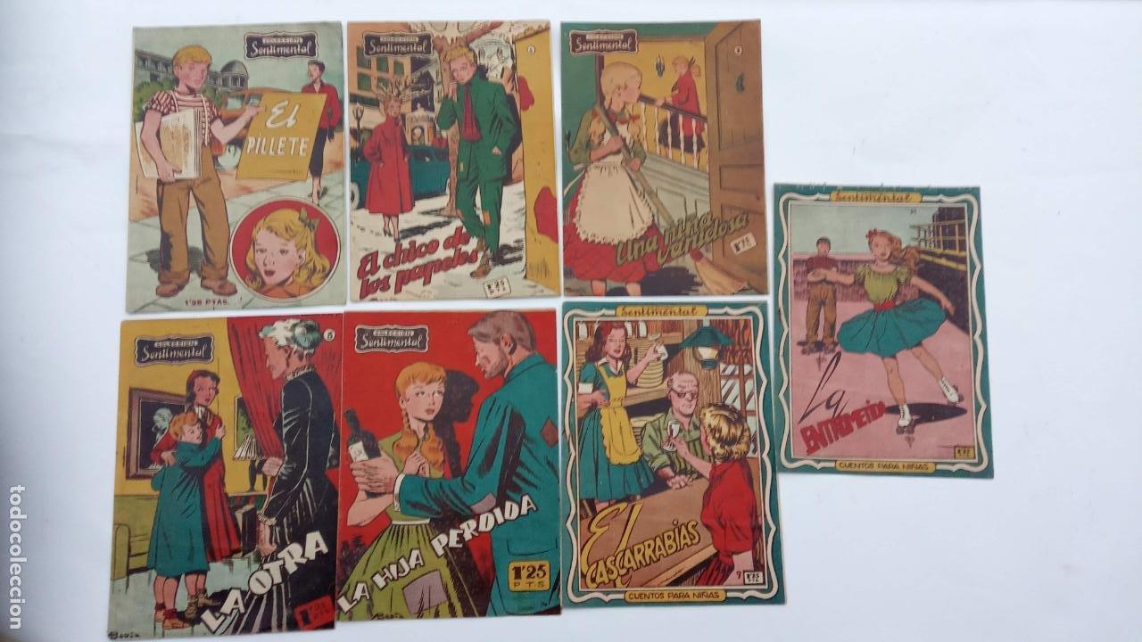 COLECCION SENTIMANTAL ORIGINALES NºS - 1, 3,5,6,7,9, 10 ÚLTIMO - MUYNUEVOS - 1953 EDI RICART (Tebeos y Comics - Ricart - Sentimental)