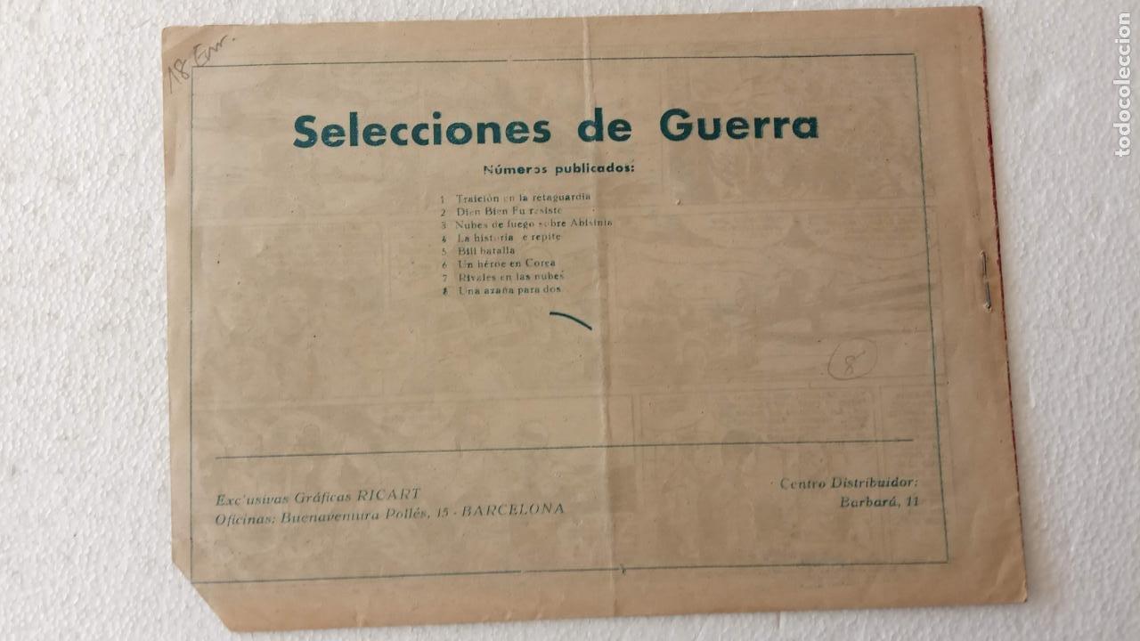 Tebeos: SELECCIONES DE GUERRA 1ª EDICCION EDI RICART 1955 - Nº 8 ORIGINAL - Foto 2 - 233761495