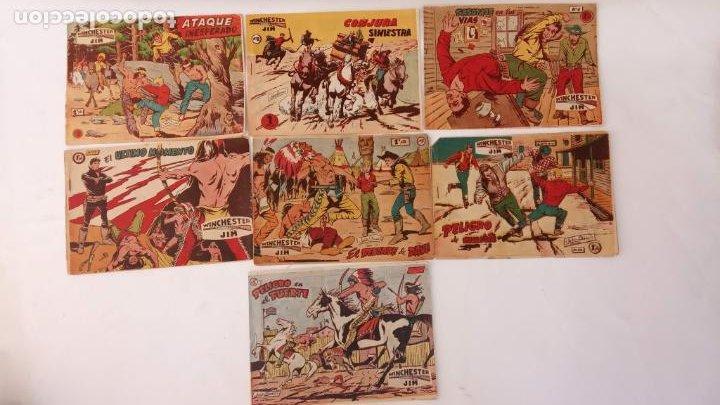 WINCHESTER JIM DE 1 PTS RIFLE - - ORIGINALES NºS - 2,4,5,6,8,11,22 RICART 1955 (Tebeos y Comics - Ricart - Otros)