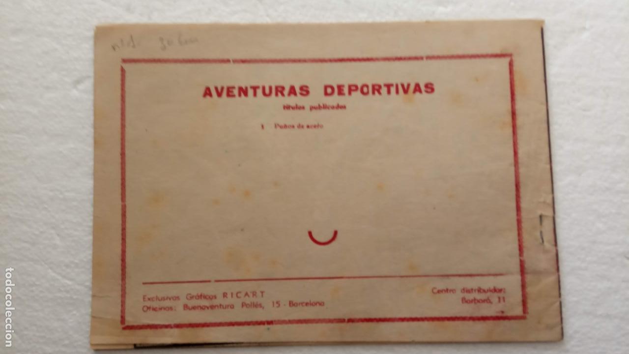 Tebeos: AVENTURAS DEPORTIVAS ORIGINAL 1 PTS. Nº 1 - EDI. RICART 1957 - DEL ARBOL - Foto 3 - 234408785