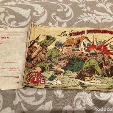 Tebeos: EPISODIOS DE COREA Nº 11 LOS TRES FUSILEROS - RICART 1955. Lote 235802720