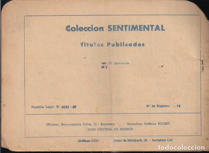 Tebeos: SENTIMENTAL Nº 323: EL REVOLTOSO - Foto 2 - 237347110