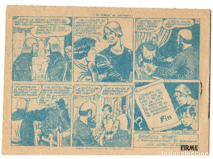 Tebeos: FLECHA Y ARTURO nº 7 (Ricart 1966) y GUERRERO DEL ANTIFAZ nº 541 (Valenciana 1963) 2 tebeos. - Foto 3 - 243334470