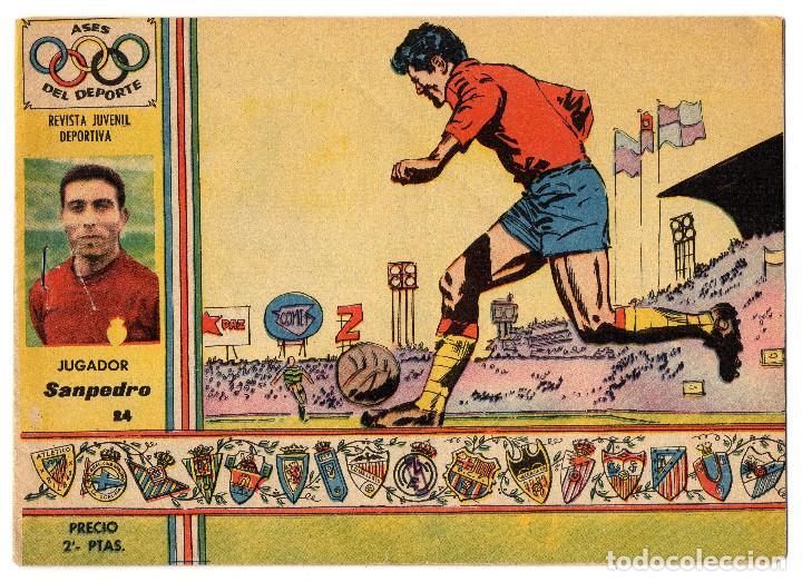 ASES DEL DEPORTE Nº 24 (RICART 1963) SANPEDRO (Tebeos y Comics - Ricart - Otros)