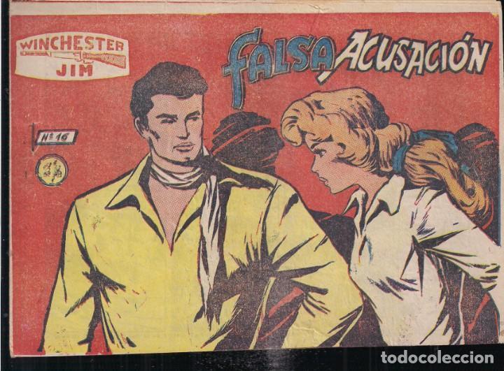 WINCHESTER JIM Nº 16: FALSA ACUSACIÓN. 2 PTA. CONTRAPORTADA CON TÍTULOS PUBLICADOS (Tebeos y Comics - Ricart - Otros)