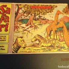 Tebeos: SAFARI (1965, RICART) 9 · 31-III-1965 · FUEGO EN LA SELVA. Lote 247779035