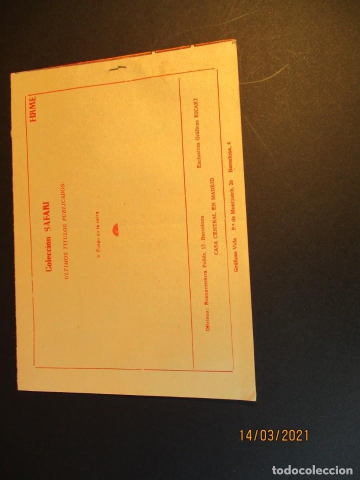 Tebeos: SAFARI (1965, RICART) 9 · 31-III-1965 · FUEGO EN LA SELVA - Foto 3 - 247779035